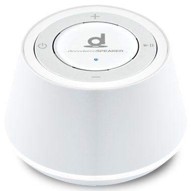 【7泊8日】docodemoSPEAKER SP-1(Misty Gray White) ワイヤレススピーカー Bluetooth接続